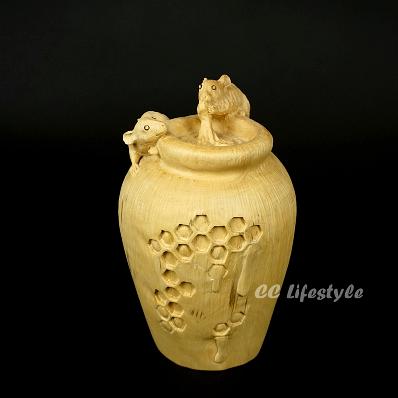 CC lifestyle Exquisite Mouse animal carving statue  steal honey wood craft Box Decoration   home decorationCC lifestyle Exquisite Mouse animal carving statue  steal honey wood craft Box Decoration   home decoration