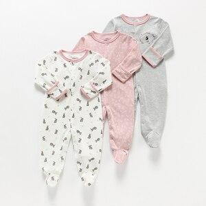 Image 1 - Bebê menina/menino macacão bebê 3 em 1 flor recém nascido roupas do bebê recém nascido macacão infantil primavera/outono/inverno pijamas