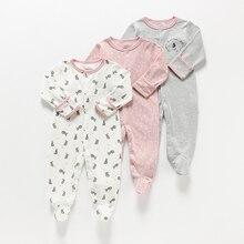 תינוק ילדה/ילד Romper תינוק Rompers 3 ב 1 פרח חדש נולד תינוק בגדי יילוד סרבל תינוקות אביב/סתיו/חורף פיג