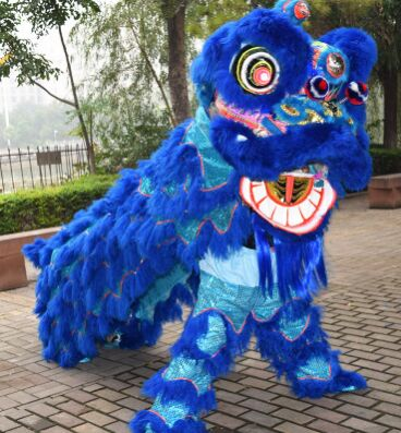 cdfc90737 blue chinese lion costume chinese lion dance costume lion dancer costumes  new year product festival supplies