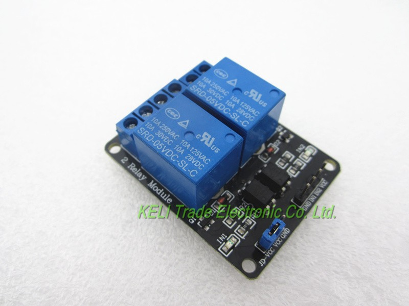 Free Shipping 10PCS/LOT 5V 2-Channel Relay Module 2 Channel s