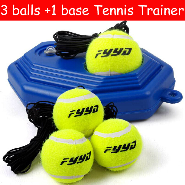 NEW 3 Ball And 1 Base Tennis Ball Trainer Practice Single Train Training Tool Partner Kit For Beginner