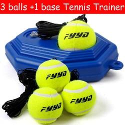 NUOVO 3 ball e 1 base Pratica Allenatore Palla Da Tennis Singolo Treno Strumento di Formazione Partner Kit per principianti