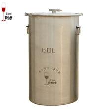 60L 304 Edelstahl Eimer Home Brau Gärung Tank Für Wein & Bier Fermenter Mit Anker Ear Design Vorratsbehälter