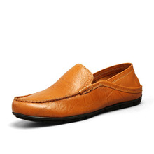 Mens Casual Shoes Leather 2018 Autumn Slip-on Fashion Classic Split Loafers Sneakers Breathable Non-slip Work Out Men