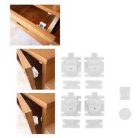 4 шт./компл. маленьких Детская безопасность Замки магнитный ключ домашнего кабинета ящик Замки Детей Протектор дети Замки