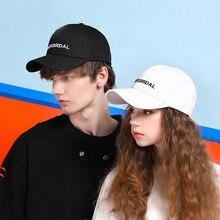 New Cotton Letter Embroidery Baseball Cap Couple Men Women Fashion Black White Hat