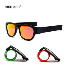 Fashion Mini Folding Polarized Sunglasses Women Men Cool Trendy Outdoor Sport Slap UV400 Bracelet Oculos s201
