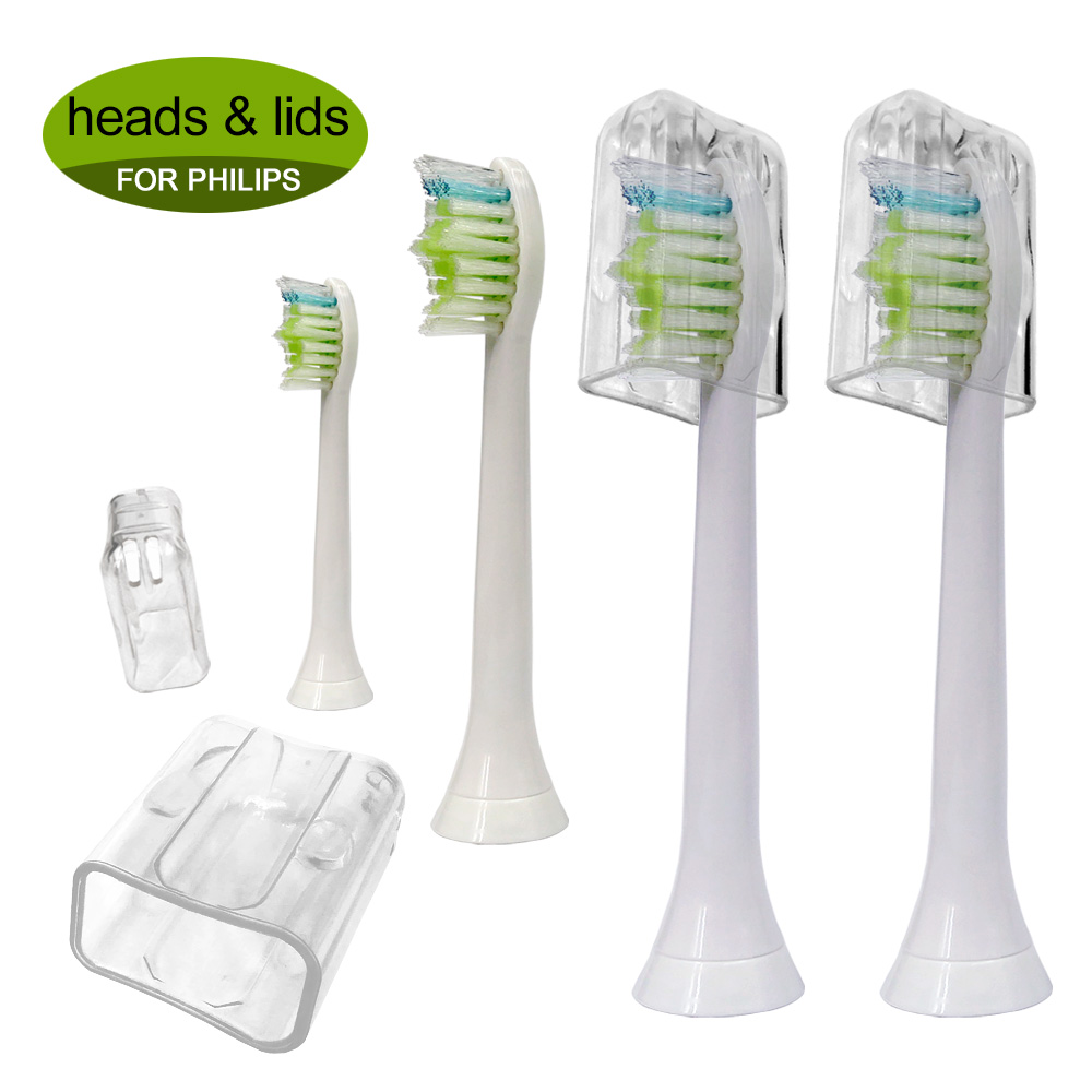 4PCS Electric Toothbrush Replacement Heads HX6064 For Philips Sonicare Tooth Brush DiamondClean,FlexCare,HealthyWhite, EasyClean