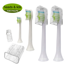 4PCS Electric Toothbrush Replacement Heads HX6064 for Philips Sonicare Tooth Brush DiamondClean,FlexCare,HealthyWhite, EasyClean зубная щётка philips sonicare flexcare hx6921 06 белый