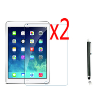 2x LCD films + 2x paño + 1x Stylus, Anti-Glare Screen Protector Matted Mate de la Guardia de cine Para Apple iPad Aire iPad5 5 2 iPad6 Air2 6