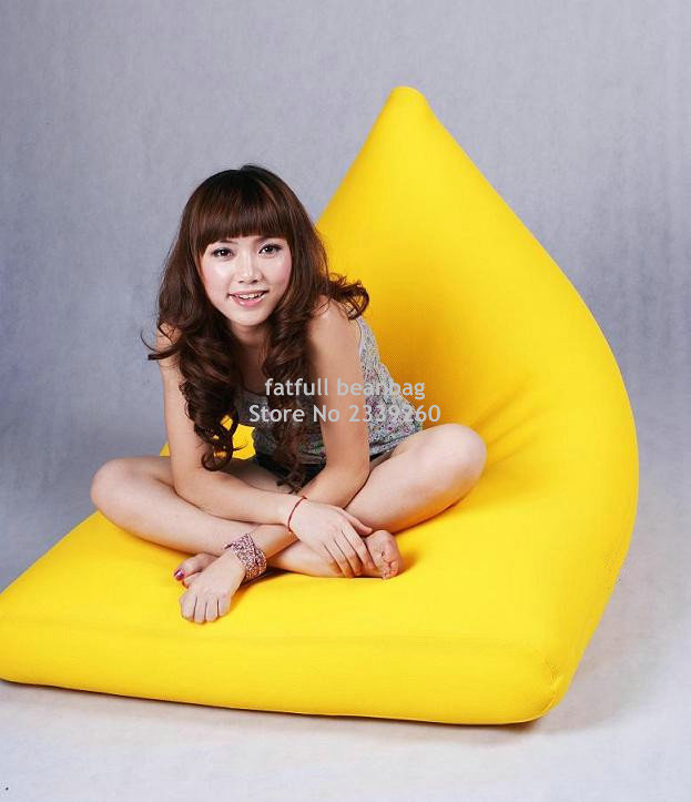 Cover Only No Filler High Back Support Bean Bag Sofa Chair