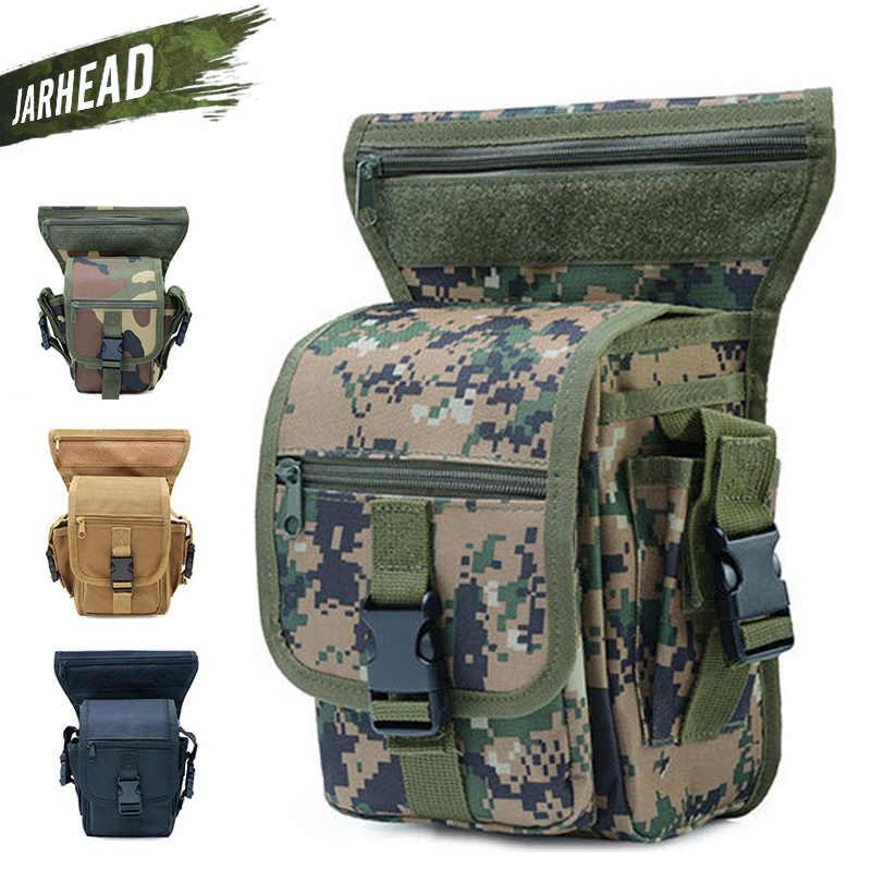 Bolso de pierna para deportes al aire libre táctico caliente bolso de cintura de deporte militar armas de caza impermeable bolsa de muslo de gota multiusos