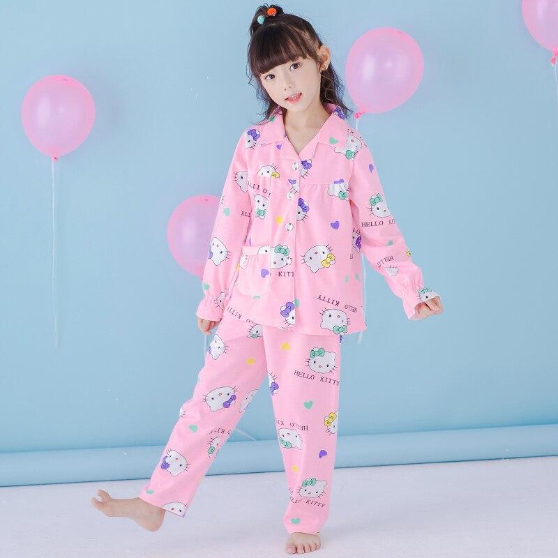 Children kids Pajamas Sets Girls boys Pyjamas Kids 100% Cotton Long Sleeve Pijamas teenage boys Girl Sleepwear Pijama Mujer