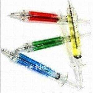 Image 2 - 500 pcs/Lot, DHL Free Shipping, Wholesale,  Promotion Novelty Pen, Syringe Style Ballpoint Pen, School supply, Lovely Gift.