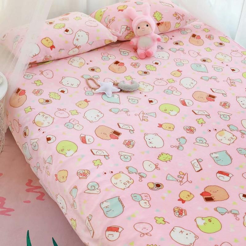 Kawaii Cartoon Soft Blanket & Pillow Case 5