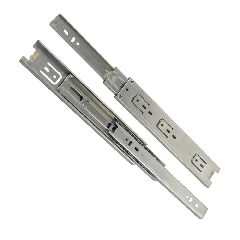2pcs 20inch Drawer Slides 45mm Width Cold-Rolled Steel Fold Telescopic Drawer Runner Ball Bearing Furniture Cabinet Sliding 10 inch 20 inch large 50c triple pumping track muffler bearing drawer slides ball three sections