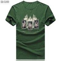 Sea Cloud Free shipping 6XL 8XL t shirt cotton tshirt superman army shirt mens o-neck t shirt men hip hop short-sleeve t-shirt