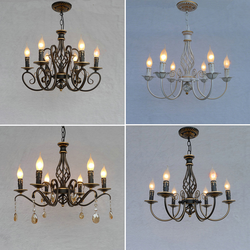 Hghomeart nordic hanging lighting fixtures antique iron chandelier hghomeart nordic hanging lighting fixtures antique iron chandelier led e14 crystal retro dining room chandeliers luminarias lamp in chandeliers from lights arubaitofo Choice Image