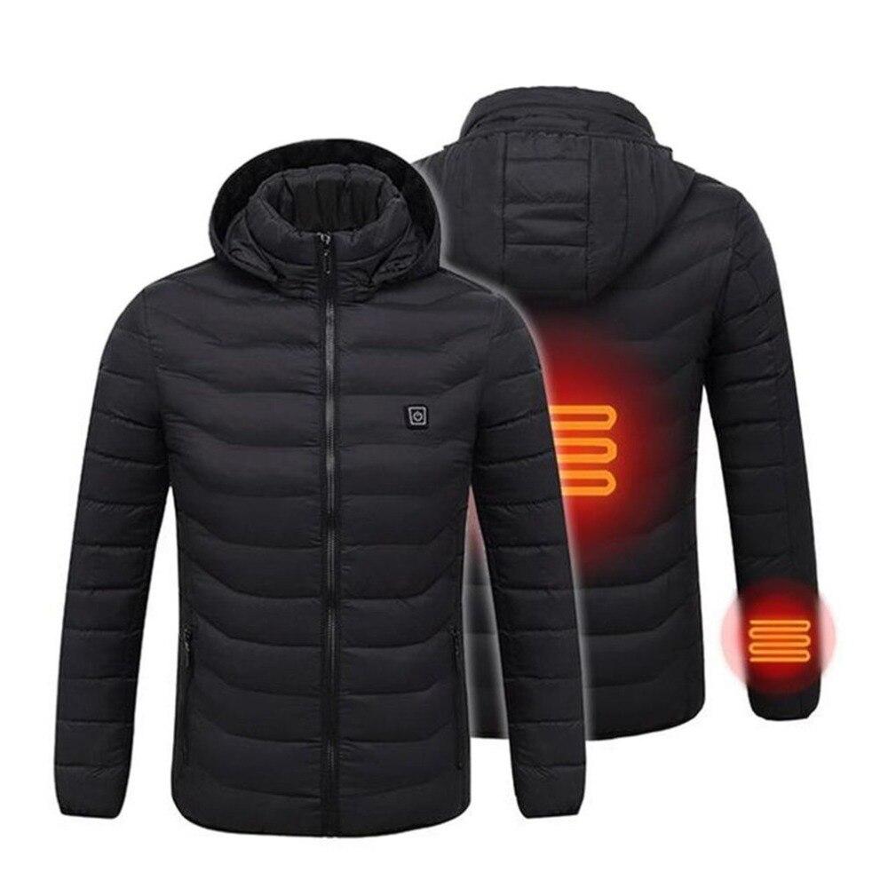 Vêtements thermiques hommes confortables manteau chauffant électrique USB veste chauffante vêtements d'hiver vêtements d'extérieur