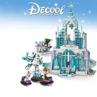 New Legoinglys Princess Series Elsa Anna Magic Ice Castle Palace Model Building Blocks Bricks With Christmas Children Toys Gift