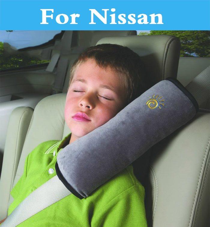 Auto Pillow Shoulder Pad Vehicle SeatBelt Cushion headrest For Nissan 350 370Z AD Almera Classic Altima Armada Avenir Juke Nismo