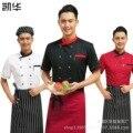 Mulheres Uniforme Do Cozinheiro Chefe Uniforme Do Cozinheiro Chefe 2016 Top Fashion Homens Jaquetas De Algodão Acrílico Broadcloth Novo Restaurante Do Hotel Desgaste de Manga Curta