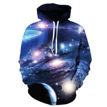 Women/Men Sweatshirt Galaxy Space Printed Hoodies Long Sleeve Crewneck Pullover Tops