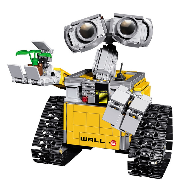 687Pcs Idea Robot Wall E Transport Dumper Truck Uilding Blocks Compatible With Legoinglys 21303 Figure Toy For Children 16003 chic mid waist button design ripped denim shorts for women