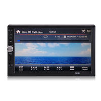 Player Camera AUX/USB/FM 2 Radio Touch Stereo Double MP5 Din 7'' Bluetooth Car