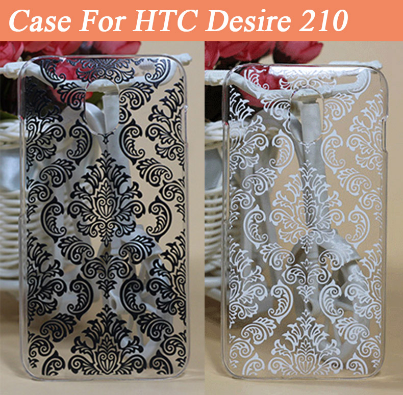 New Painting Vintage Paisley Flower mobile phone case For HTC Desire 210 hard Back Skin cover HTC 210 Dual Sim