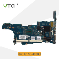 YTAI SR1EN I3 4030 for HP Elitebook 840 G1 laptop motherboard SR1EN I3 4030U processor 6050A2560201 AM A03 mainboard 100% tested