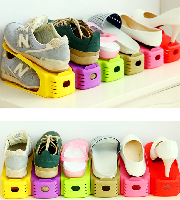 Shoes Rack Organizer Space Saving Shoes Tree Stand Shoe Storage Holder;Shoe  Box;Magic Creative 2 Tier Shelves;Home Storage In Shoe Racks U0026 Organizers  From ...