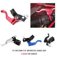 KEMiMOTO 22mm 7/8 Stunt Clutch Lever short lever Motorcycle Handle bar Adjustable Folding Extendable CNC Aluminum