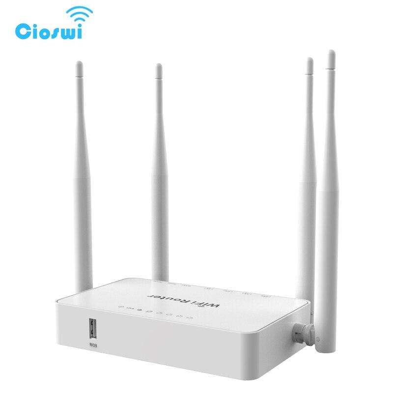 300 Mbps Sans Fil WiFi Routeur 802.11b/g/n MT7620N CPU Avec 4 Antennes Externes Support USB Modem OpenWRT routeur Anglais Version