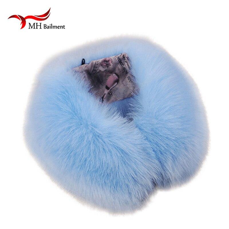 2016 Real fox Fur Collar Scarf Womens Shs