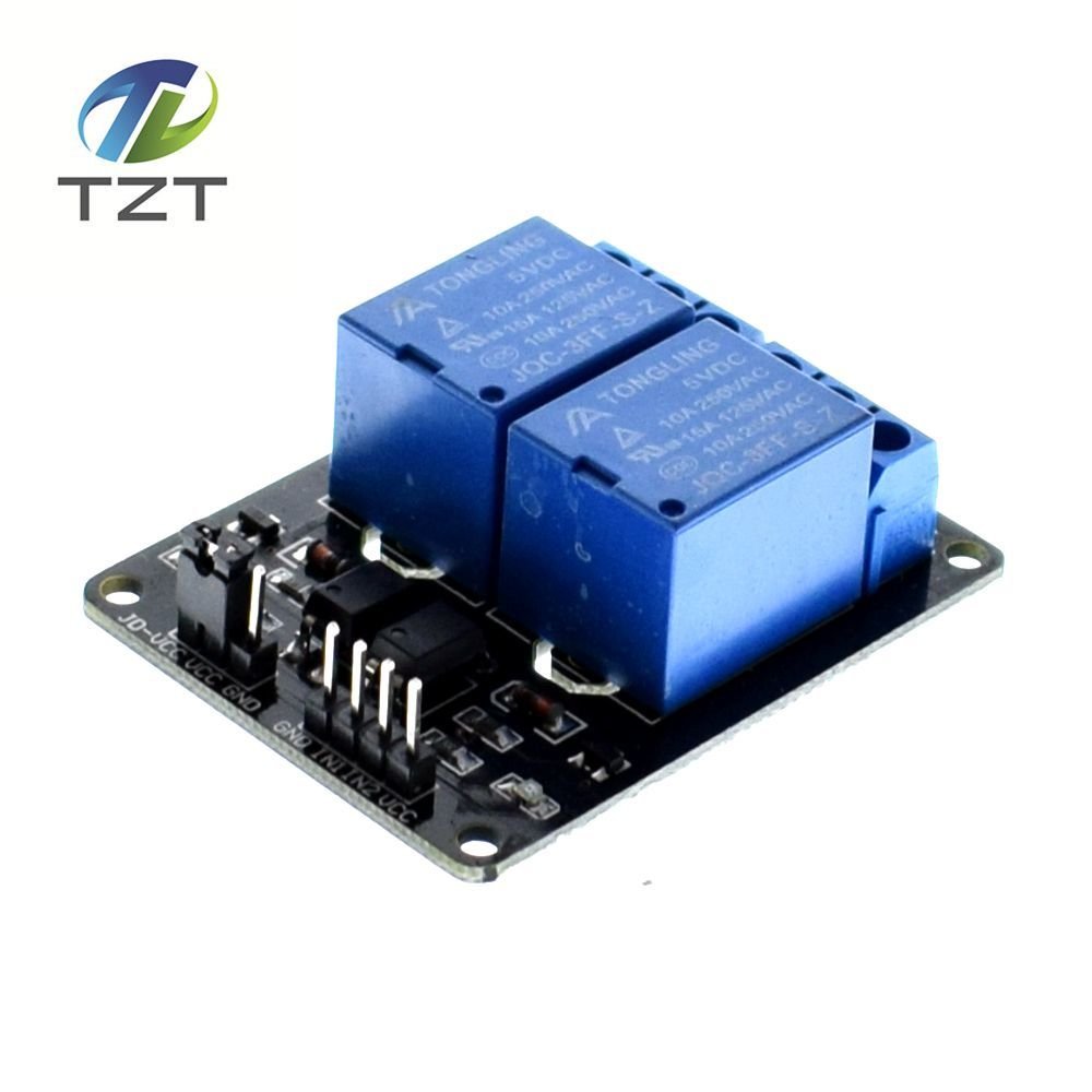10PCS/LOT 5V 2-Channel Relay Module Shield for Arduino ARM PIC AVR DSP Electronic 100% new original