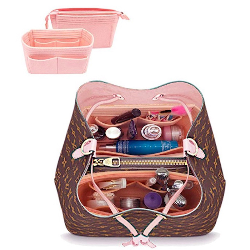 For Neo Noe Insert Bags Organizer Makeup Handbag Organize Travel Inner Purse Portable Cosmetic Base Shaper For Neonoe(20 Colors)
