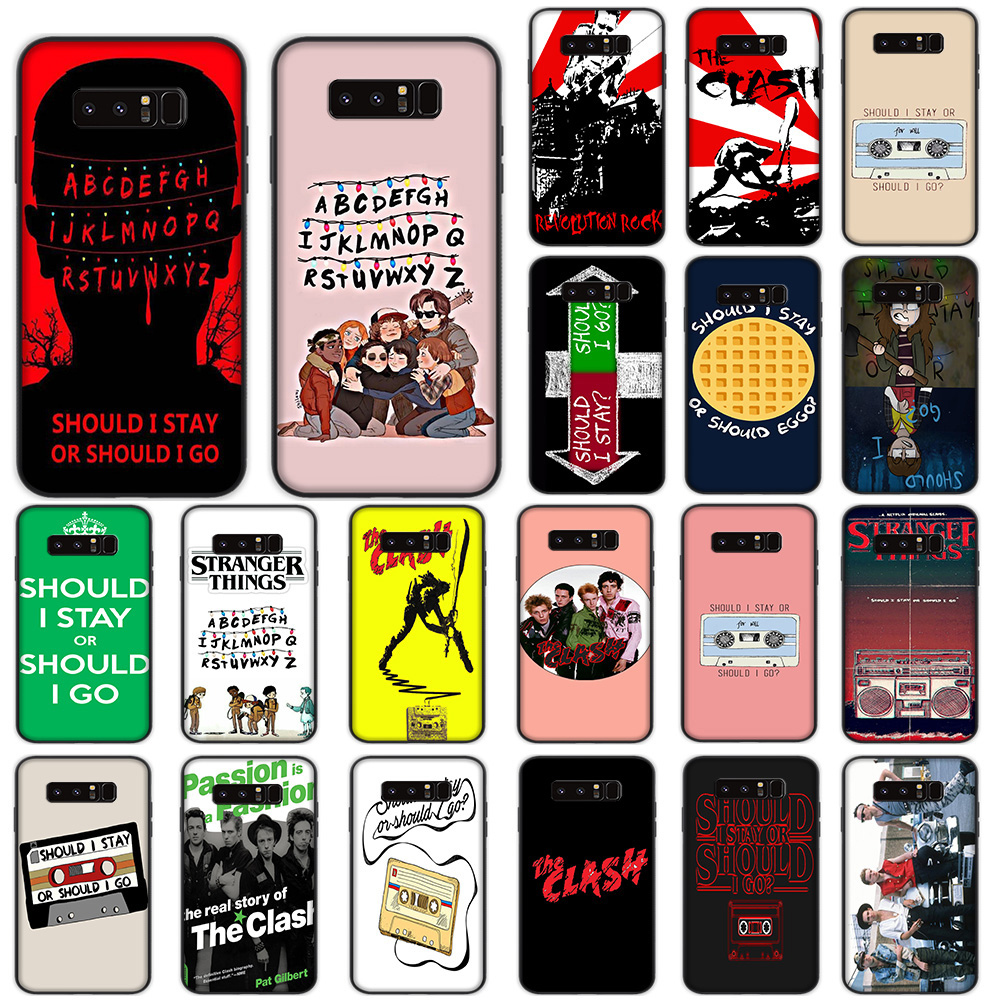 Should Stay or Should I Go Soft Case for Samsung Galaxy Note 8 9 10 Plus M10 M20 M30 A10s A20s A30s A40s A50s Cover