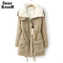 New Autumn Winter Jacket Coat Women Parka Woman Clothes Solid Long Jacket Slim Plus Size Women's Winter Jackets And Coats 2016