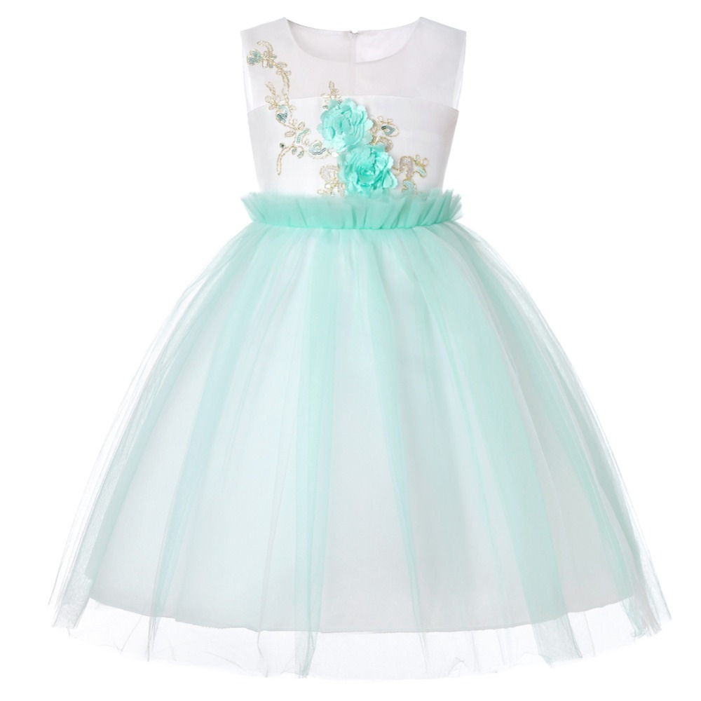 Kids Clothes Floral Girls Dress Summer 2019 Toddler Girl Clothing Princess Dress Baby Girl Party Dress for Girls 1-13 Years