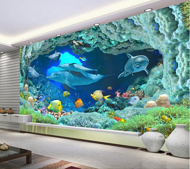 3d Wallpaper Custom Mural Non Woven Wall Stickers Hd Ocean