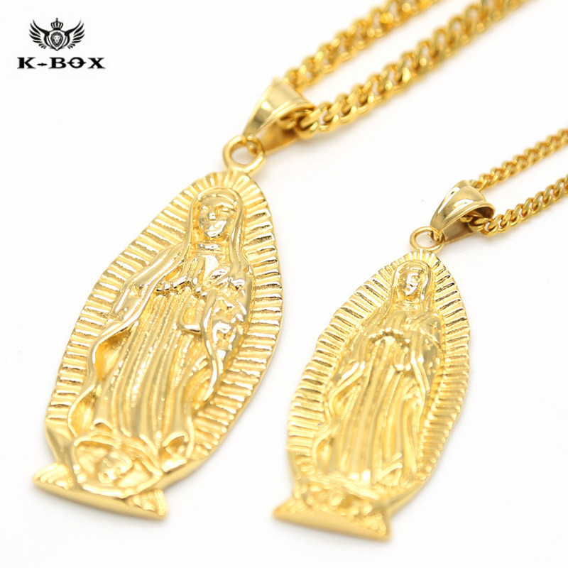 2 size mens golden long virgin mary pendant hip hop 35mm24 275 2 size mens golden long virgin mary pendant hip hop 35mm24 275 flat cuban chain hip hop necklace k box jewelry in pendant necklaces from jewelry aloadofball Choice Image