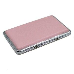 Roze Lederen Sigaret Gevallen Voor Vrouwen Sigaar Case Vrouw Sigaret Box Case Presenteert Voor Mannen Tabak Pouch sigaretten doosje
