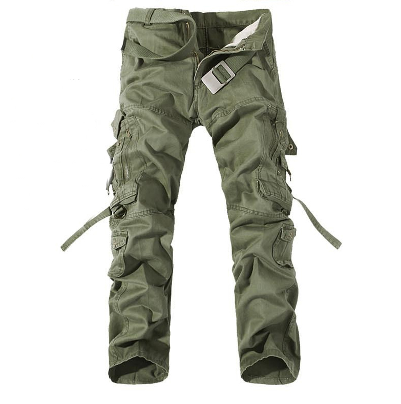 outdoors camping hiking Camouflage Cargo Pants Plus Size Multi-pocket Overalls Trousers Men 6 colors durable dabbling camouflage trousers size l