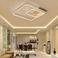 NEO Gleam Square Double Glow Living Room Bedroom Led Chandelier High Brightness Aluminum Modern Led Ceiling