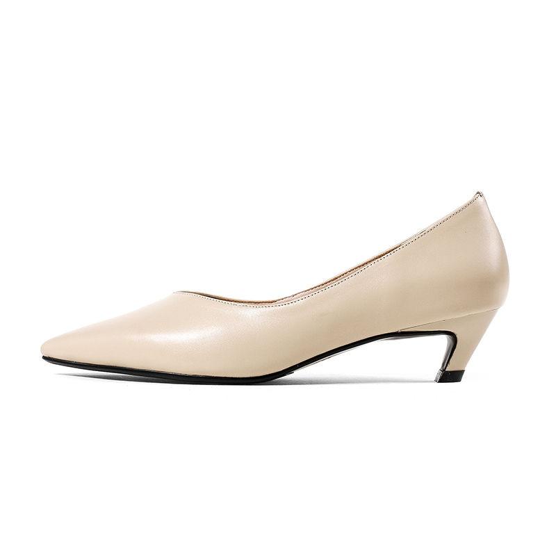 Talons Femme Noir Apricot Ol dark Pompes 2019 Chaussures Automne Globale Printemps En noir Supérieure Femmes Bonjomarisa Green Cuir Véritable Med Pour Qualité Plates 7qfTHa