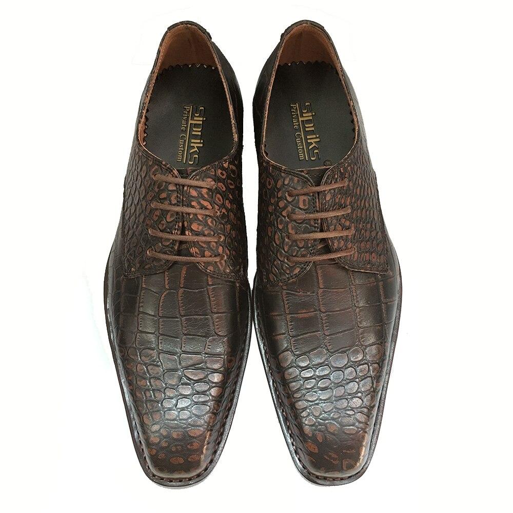 Trajes Para A Zapatos Oxfords Hombre Formales Italiano Cocodrilo Retro Caballeros Piel Social De Lujo Goodyear Sipriks Hombres HqfYWAaW6