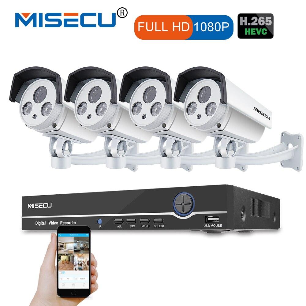 8CH Réel 48 v HD POE NVR Onvif 1080 p HDMI 2.0MP Réseau De Haute Puissance Led IR POE NUIT étanche p2P nuage caméra de Surveillance kit