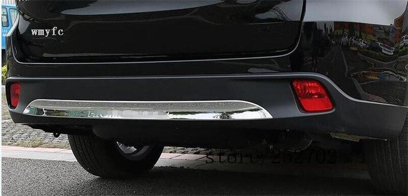 For 2015 2016 2017 Toyota Highlander High quality ABS Chrome Rear bumper Scuff trim for highlander trim a